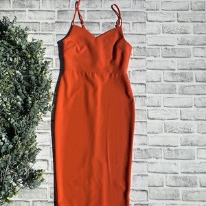 1. State Coral Pencil Dress